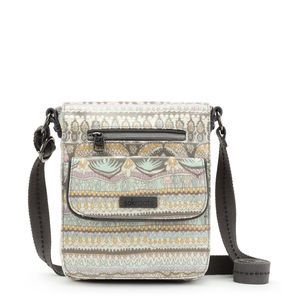 Sakroots Small Flap Messenger Pastel One World